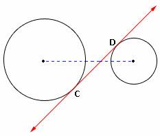 example of Internal Tangent of a Circle