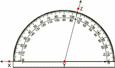 how to draw 105 degree angle with compass